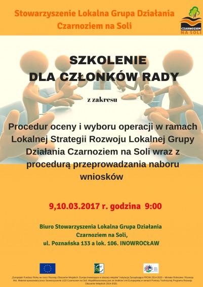 Szkolenie dla członków Zarządu oraz członków Rady Stowarzyszenia LGD Czarnoziem na Soli - Czarnoziem Na Soli