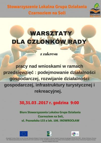 Warsztaty dla członków Zarządu oraz członków Rady Stowarzyszenia LGD Czarnoziem na Soli - Czarnoziem Na Soli
